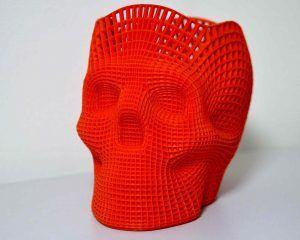 Calavera fabricada con nuestros servicios de impresión 3D