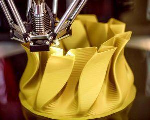 Florero de diseño fabricado en impresión 3D