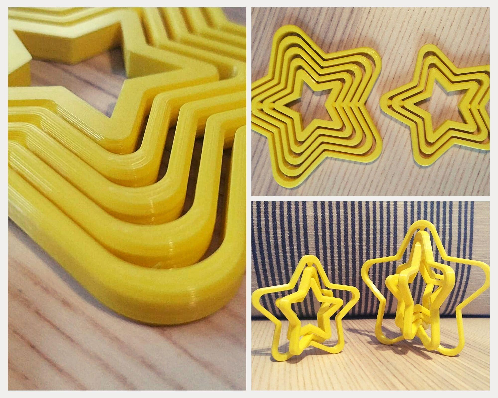 Estrellas giratorias fabricadas en nuestro servicio de impresión 3D