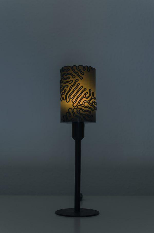 Lámpara creada con nuestros servicios de impresión 3D