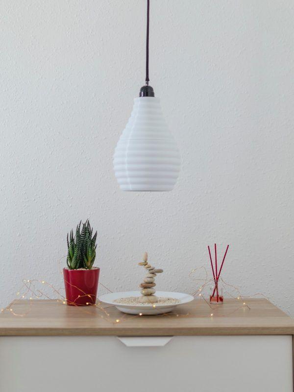 Lámpara creada con impresión 3D